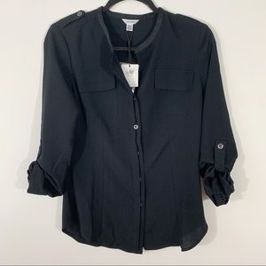 Calvin Klein . Button Front Blouse . XS